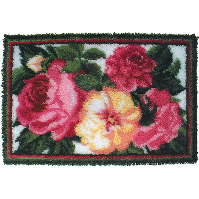 Natura Rose Bouquet Latch Hook Kit