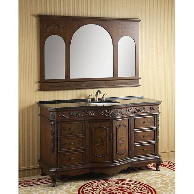 ICA Furniture Rosalie Bathroom Vanity and Mirror Combo