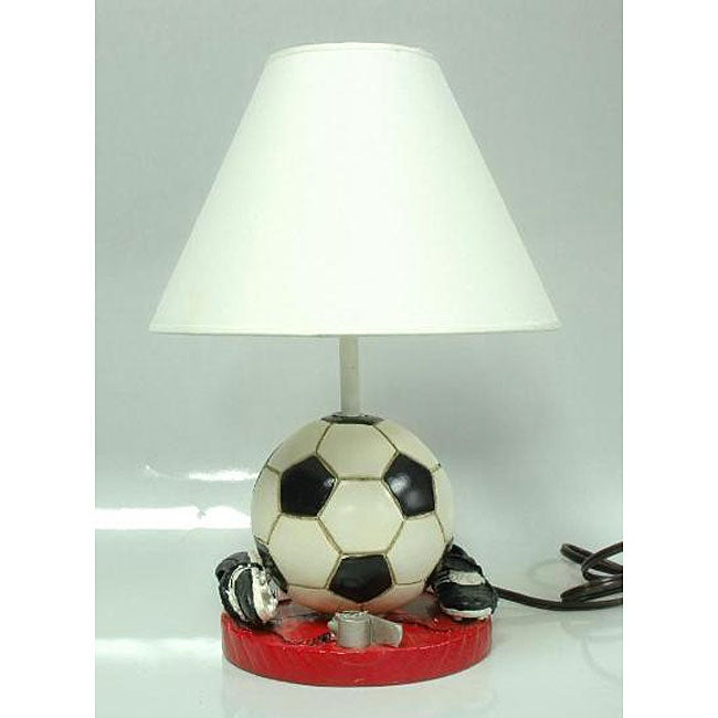 Shop Soccer Ball And Cleats Sports Lamp With Shade Free Shipping