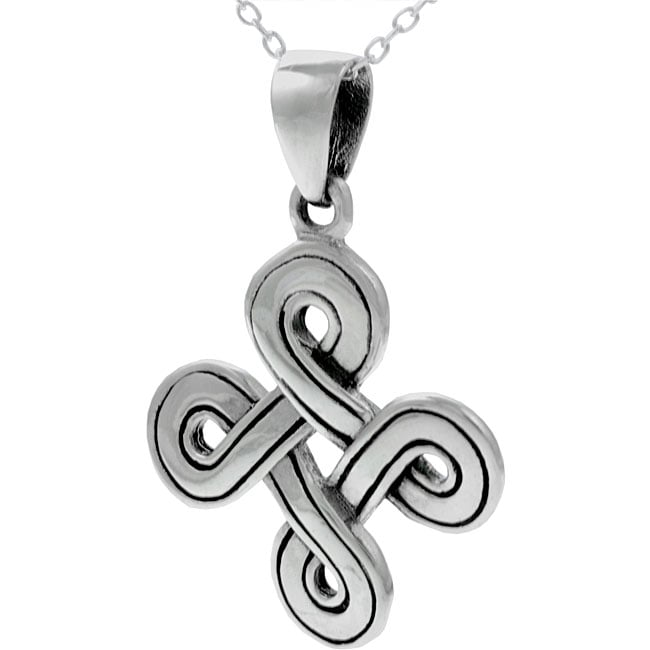 Journee Sterling Silver Celtic Necklace