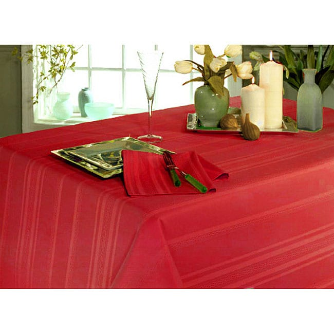 Monticello Tonal Striped Oval Tablecloth (120 In. X 60 In.)