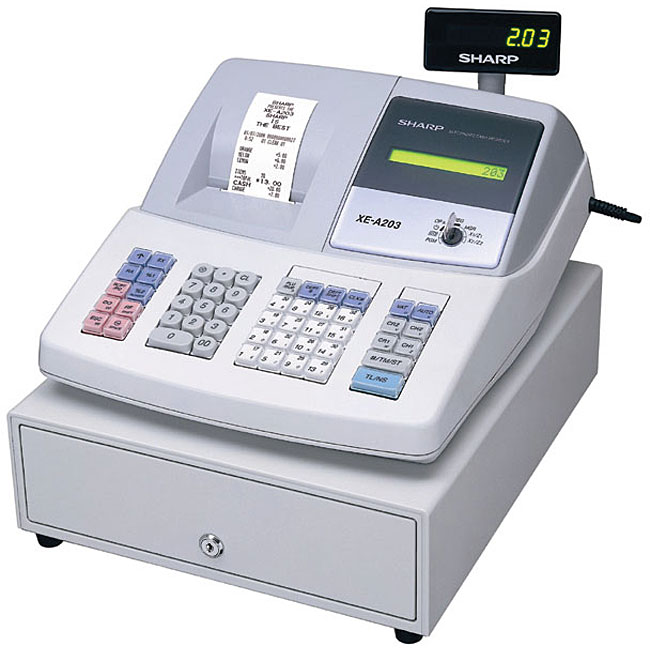 shop sharp xe a202 high speed electronic cash register free rh overstock com xe-a202 cash register manual National Cash Register