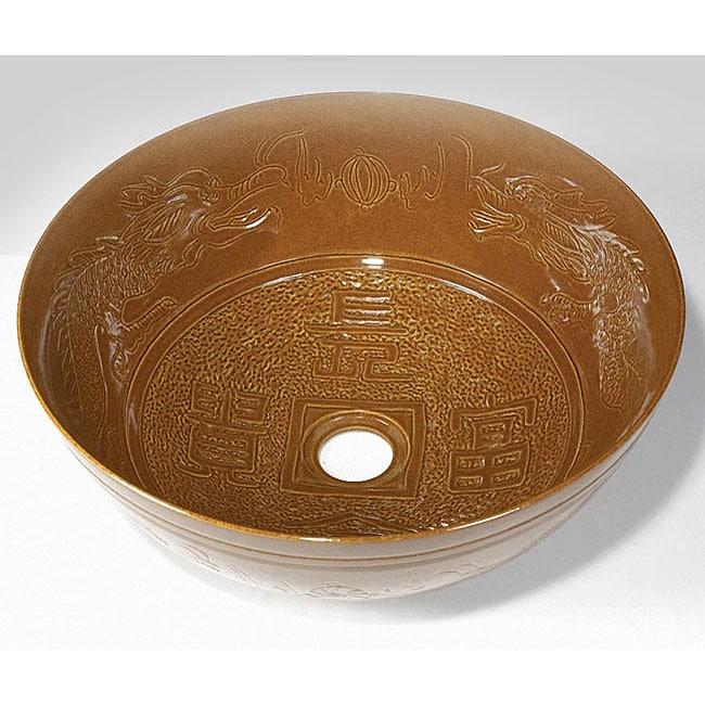 Baden Chinese Bronze Porcelain Vessel Sink