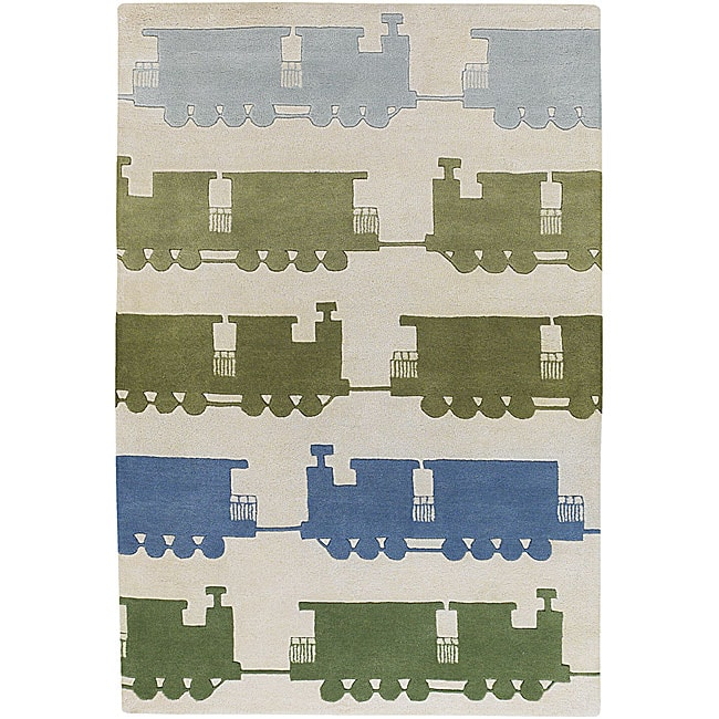 Hand-tufted Toddler Novelty Area Rug (5' x 7'6)