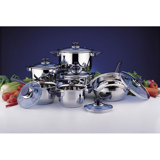 Induction Ready 12-piece Stainless Steel Cookware Set