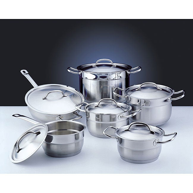 Professional Stainless Steel 12-piece Cookware Set