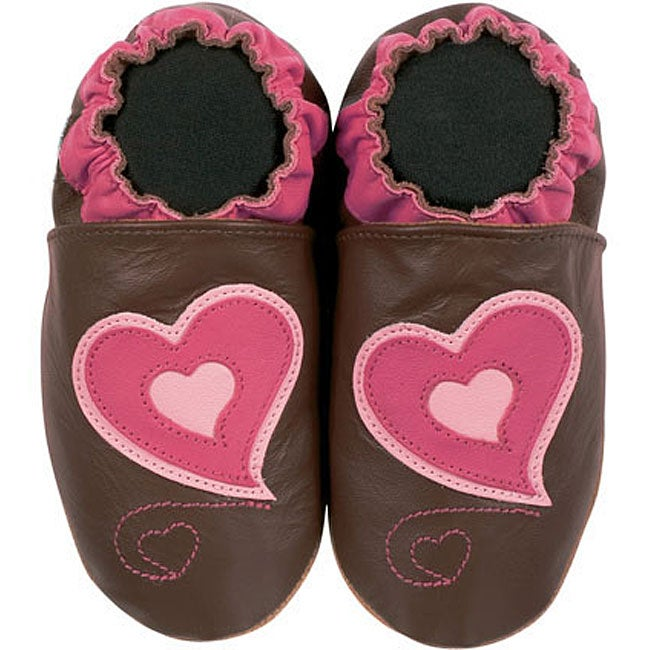 Happy Kids Heart Design Infant Leather Shoes