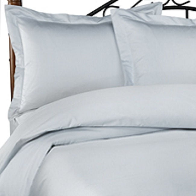 Shop Light Blue 600 Thread Count Duvet Cover King Free Shipping