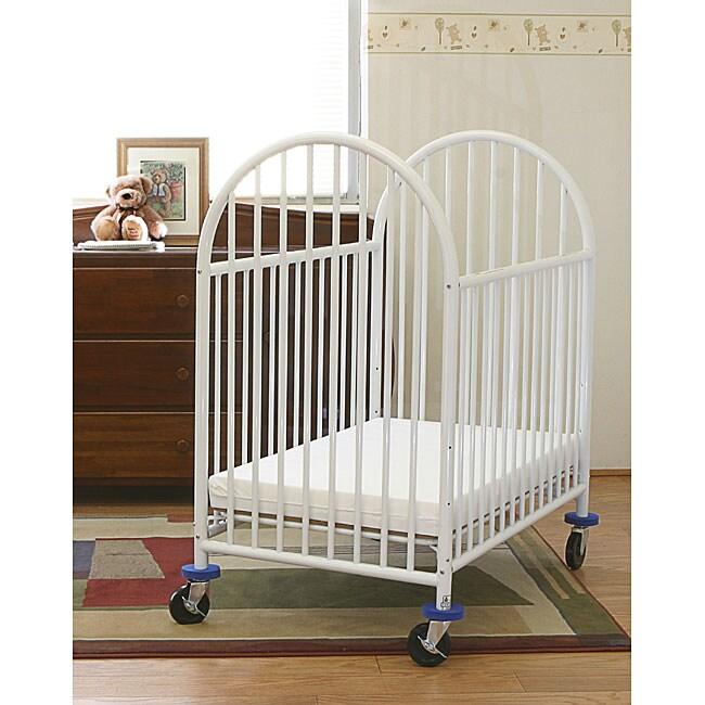 Shop La Baby Mini Portable Crib With Mattress Free