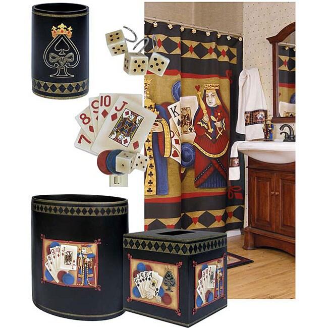 Poker Face 6-piece Bath Accessory Set