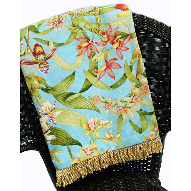 Wild Orchid Decorative Throw Blanket