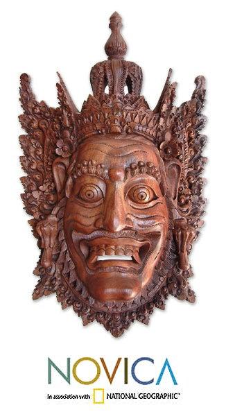 Wood 'Rahwana, the Demon King' Mask (Indonesia)
