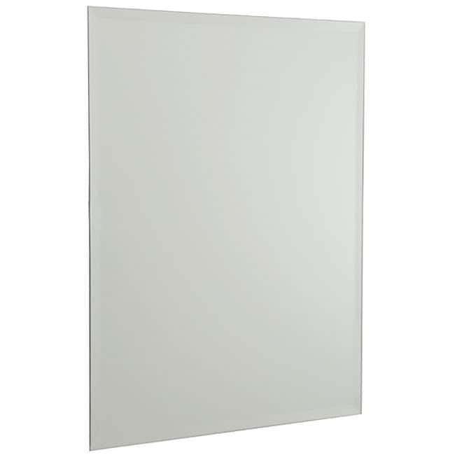Bathroom Mirrors Beveled Edge allied brass rectangular bathroom wall mirror with beveled edge