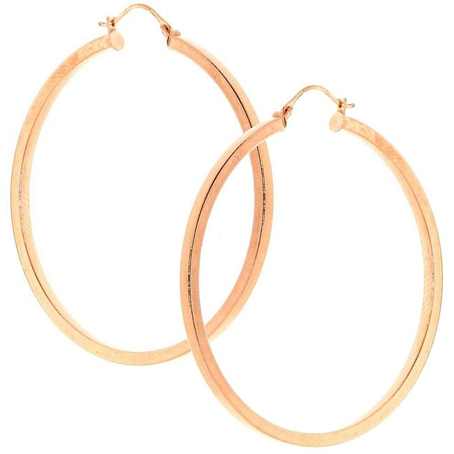 14k Rose Gold Hoop Earrings