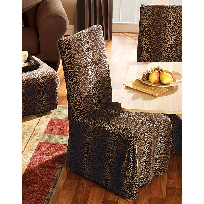 Leopard Dining Room Chair Slipcovers Set Of 2 Free