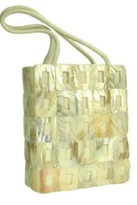 Mad By Design White Mother of Pearl Tote