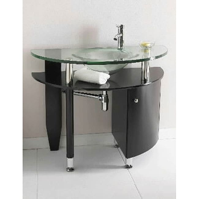 ica furniture mantis tempered glass bathroom vanity free shipping