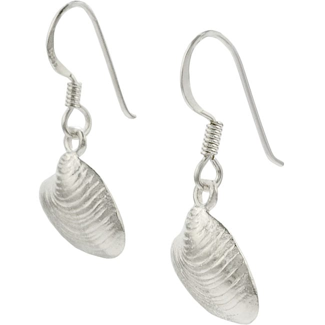 Journee Collection Sterling Silver Sea Shell Earrings