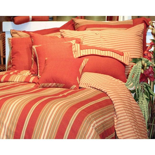 Shop Tuscan Stripe Full Queen Duvet Cover Mini Set Free