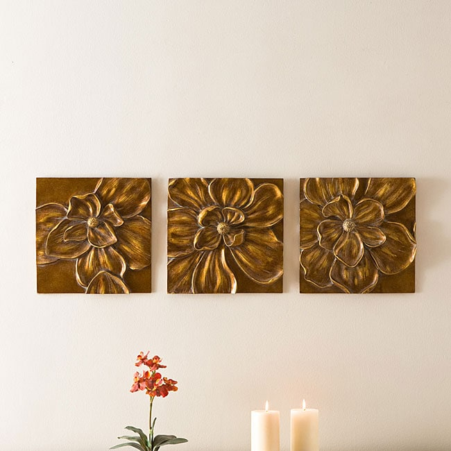 Magnolia Wall Plaque (Pack of 3)