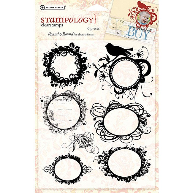 Autumn Leaves 'Round and Round' Clear Stamp Sheet