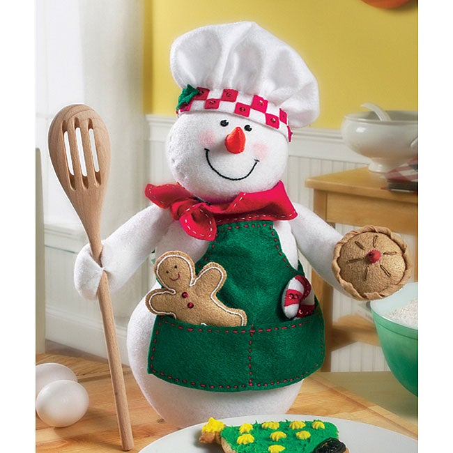 Snowman Chef Felt Applique Kit Free Shipping On Orders