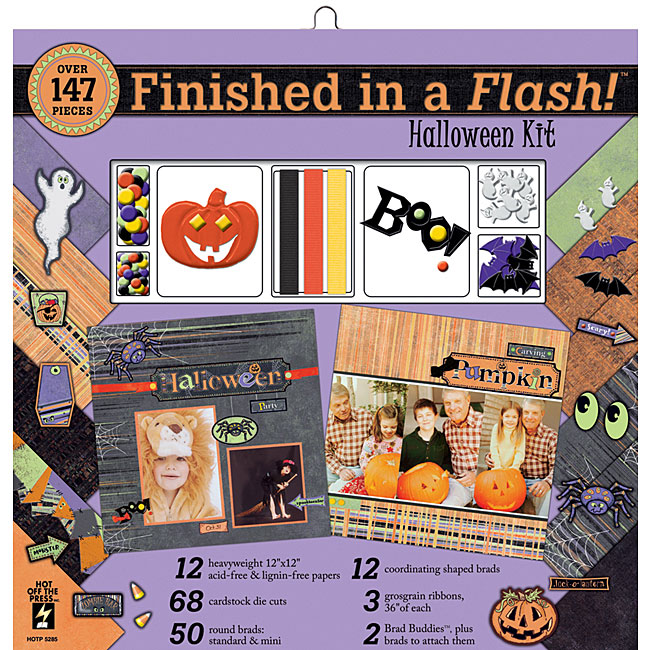 Finished In A Flash 12x12 Halloween Scrapbook Kit