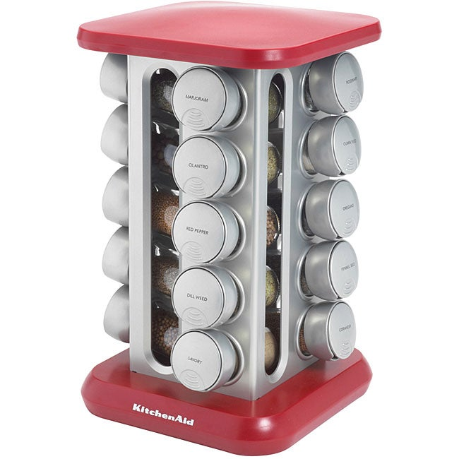 Kitchenaid 20 Jar Red Spice Rack Free Shipping Today