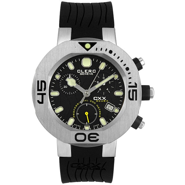 Clerc CXX Men's Rubber Strap Scuba Watch