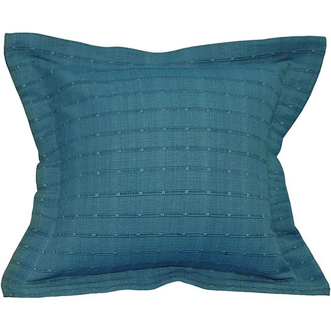 Decorative Striped Blue Cotton Cushion Cover