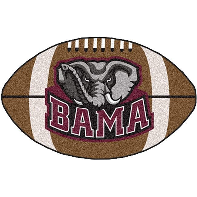 Fanmats NCAA University of Alabama Football Area Rug