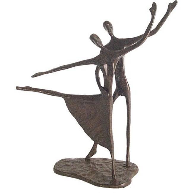 Home Decoration And Furnishing Articles Couple Characters: Modern Dancing Couple Cast Bronze Statue