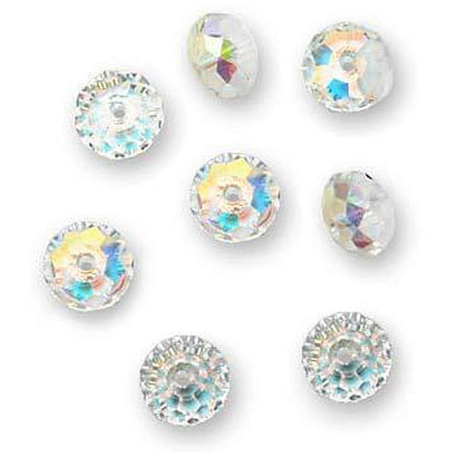 Crystal AB Austrian Crystal 8-mm Rondelle Beads (Case of 8)