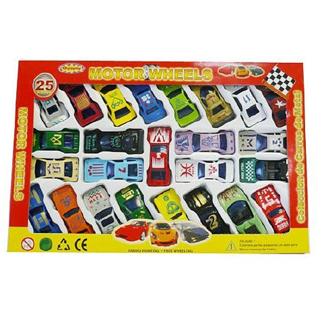 Motor Wheels Multi-colored Toy Cars (Set of 25)