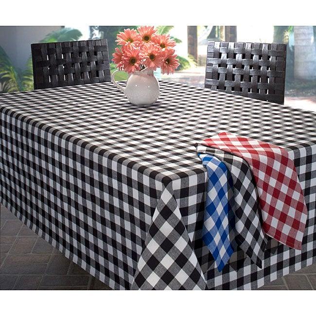 Picnic Plaid Tablecloth and Napkin Set