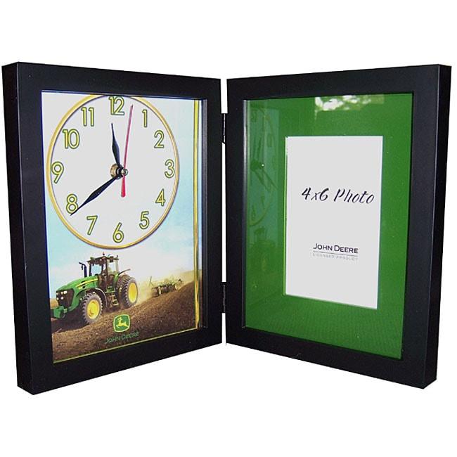 John Deere Logo Shadow Box Bi Fold Clock Free Shipping