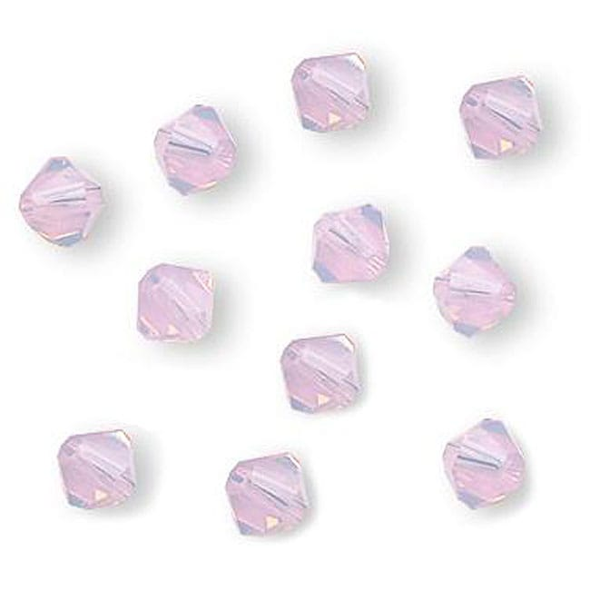 Rosewater Opal Austrian Crystal 4-mm Bicone Beads (Case of 50)