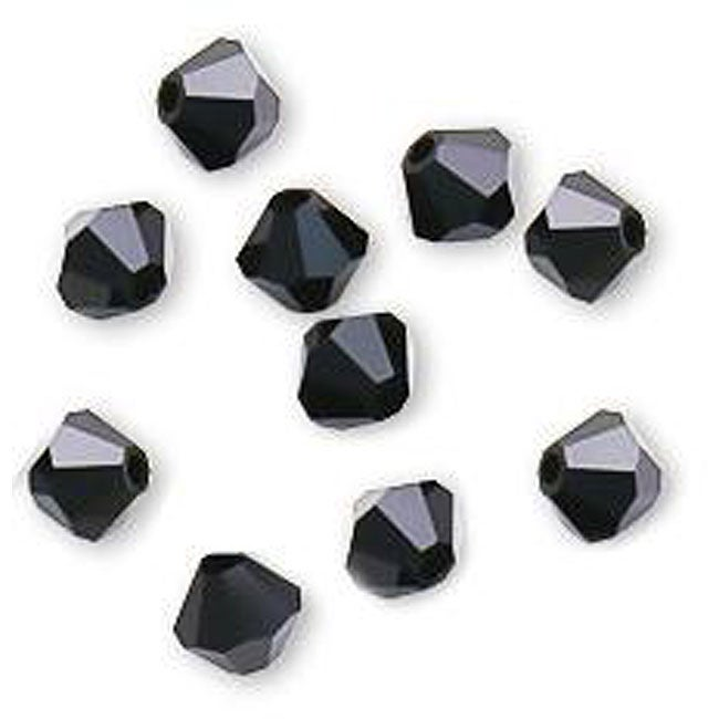 Jet Austrian Crystal 4-mm Bicone Beads (Case of 50)