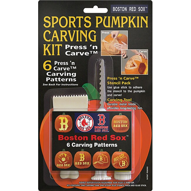 Shop Boston Red Sox Pumpkin Carving Kit Free Shipping On Orders