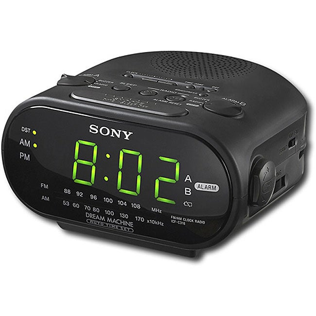 sony icfc318 dual alarm clock radio refurbished free shipping on orders over 45 overstock. Black Bedroom Furniture Sets. Home Design Ideas