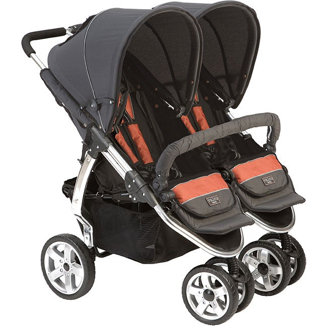 Shop Valco Baby Latitude Double Stroller In Clay Free