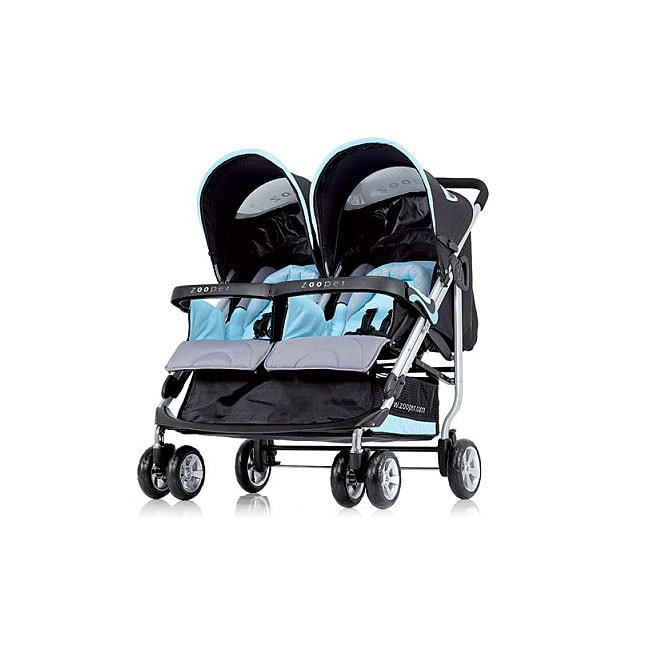 Shop Zooper Tango Twin Double Stroller In Sky Blue Free