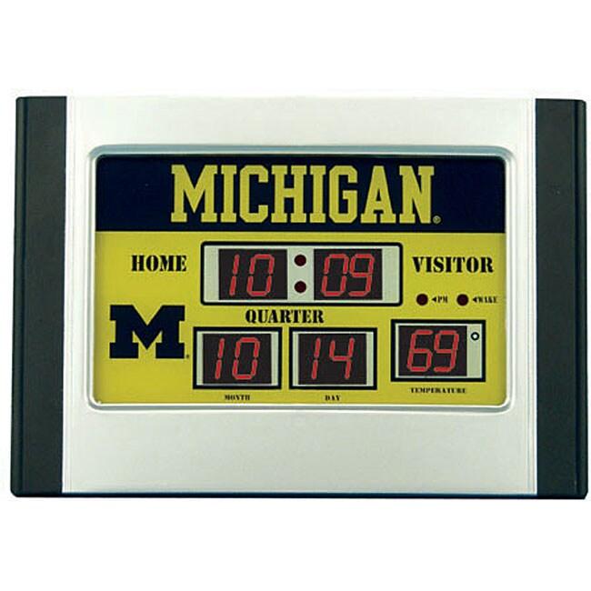 University Of Michigan Scoreboard Desk Clock Free