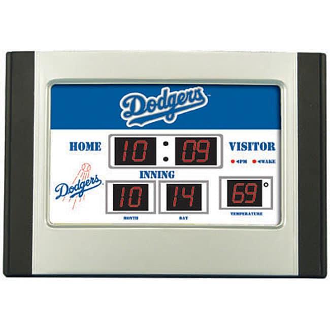 Los Angeles Dodgers Scoreboard Desk Clock Free Shipping