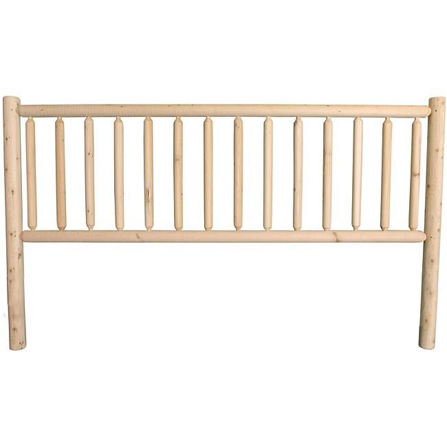 Rustic Log Pole Cedar King Bed Headboard