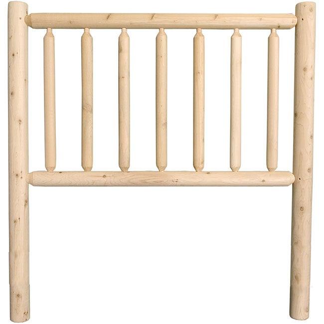Rustic Log Pole Cedar Twin Bed Headboard