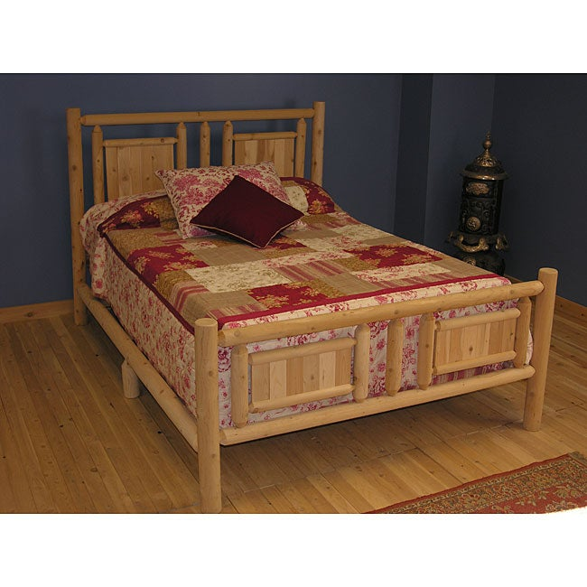 Shop Log Pole Cedar Slat Adirondack Queen Bed Free Shipping Today