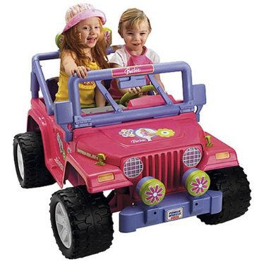 Power Wheels Barbie Jammin Jeep Ride-on Car