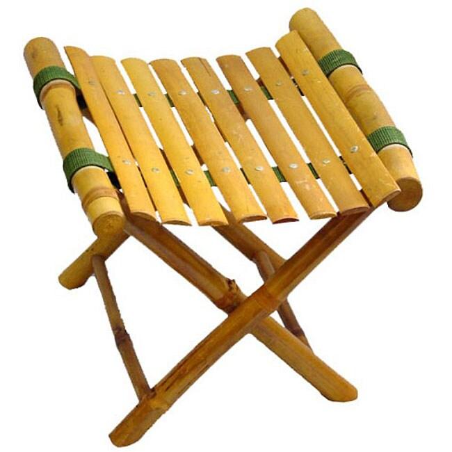 Shop Bamboo Folding Footstool Vietnam Free Shipping