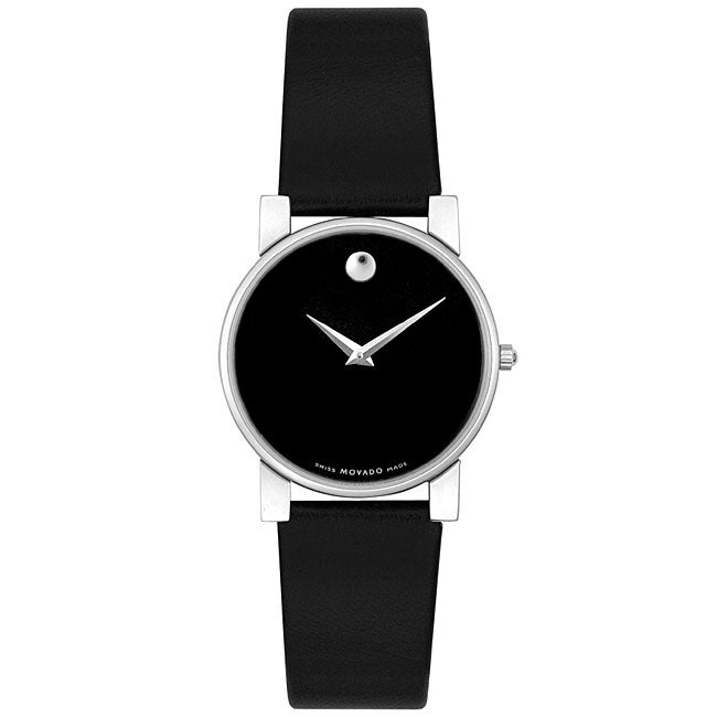 Movado Museum Women's Black Strap Watch